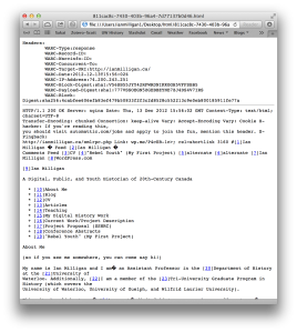 A Full Text WARC file, formatted in Lynx, with good metadata.