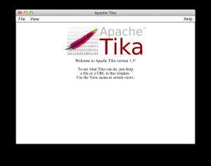 The GUI for Apache Tika.