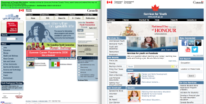 At left, the website from January 2006, and at right, the website from today (7 May 2014).