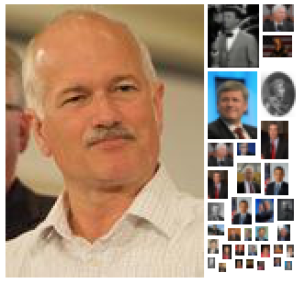It should be no surprise that in 2009, the prominent NDP leader Jack Layton was the most frequent person mentioned on their site.