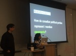 "Team ""nuages"" had an extensive presentation on how Canadian political parties represented opponents.."
