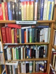 I foolishly didn't take any pictures of the workshop. But found this great bookstore with a historiography section..